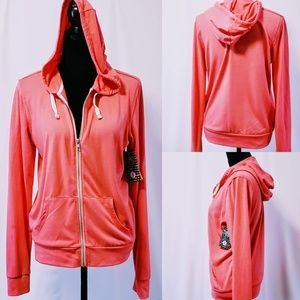 Abbot + Main Full Zip Hoodie, Coral size L🆕🦄